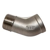 M & F 45° Elbow